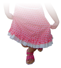 Image of little girl curtseying - photo from waist down