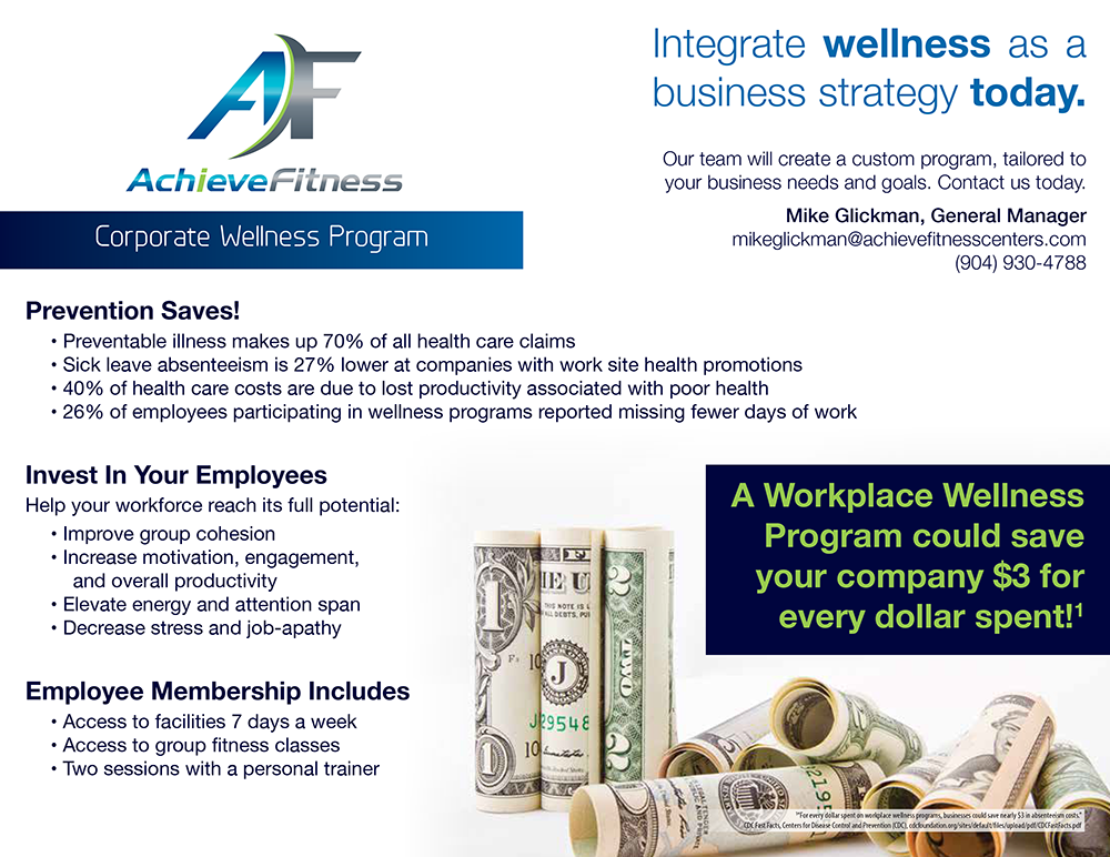 Promotional Flyer for Achieve Fitness