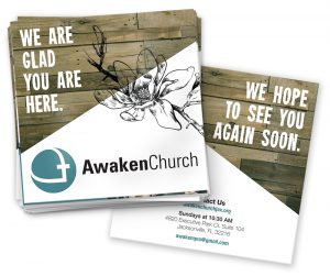 Square brochures for AwakenChurch