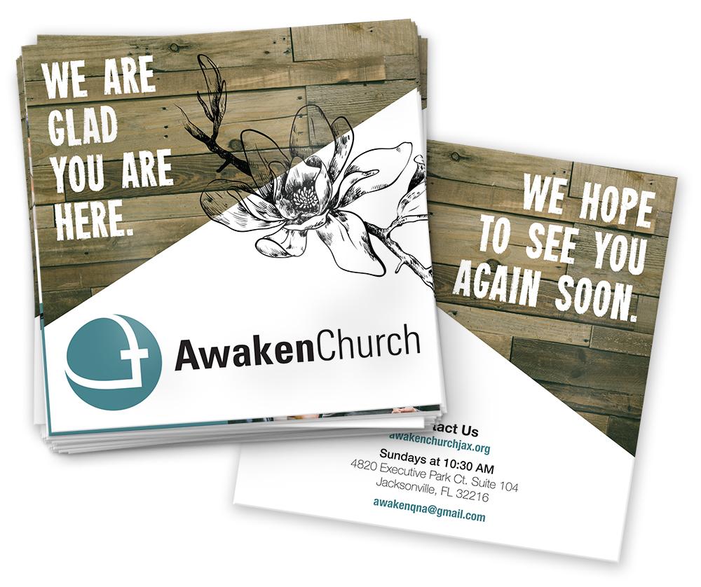Square brochures for AwakenChurch