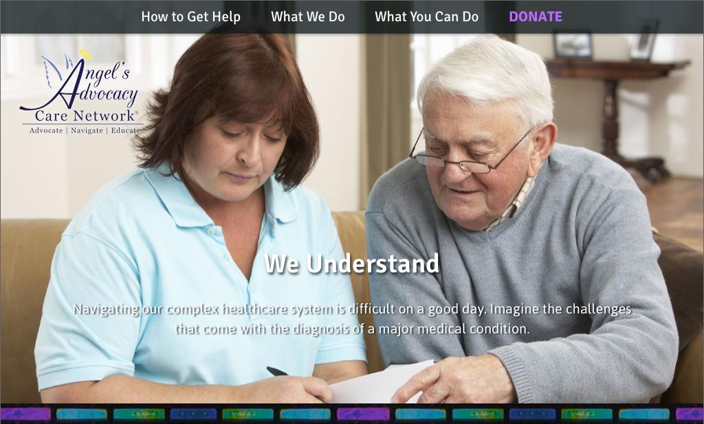 Screenshot of homepage of AACN website