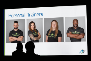 PowerPoint Slide Template for Achieve Fitness