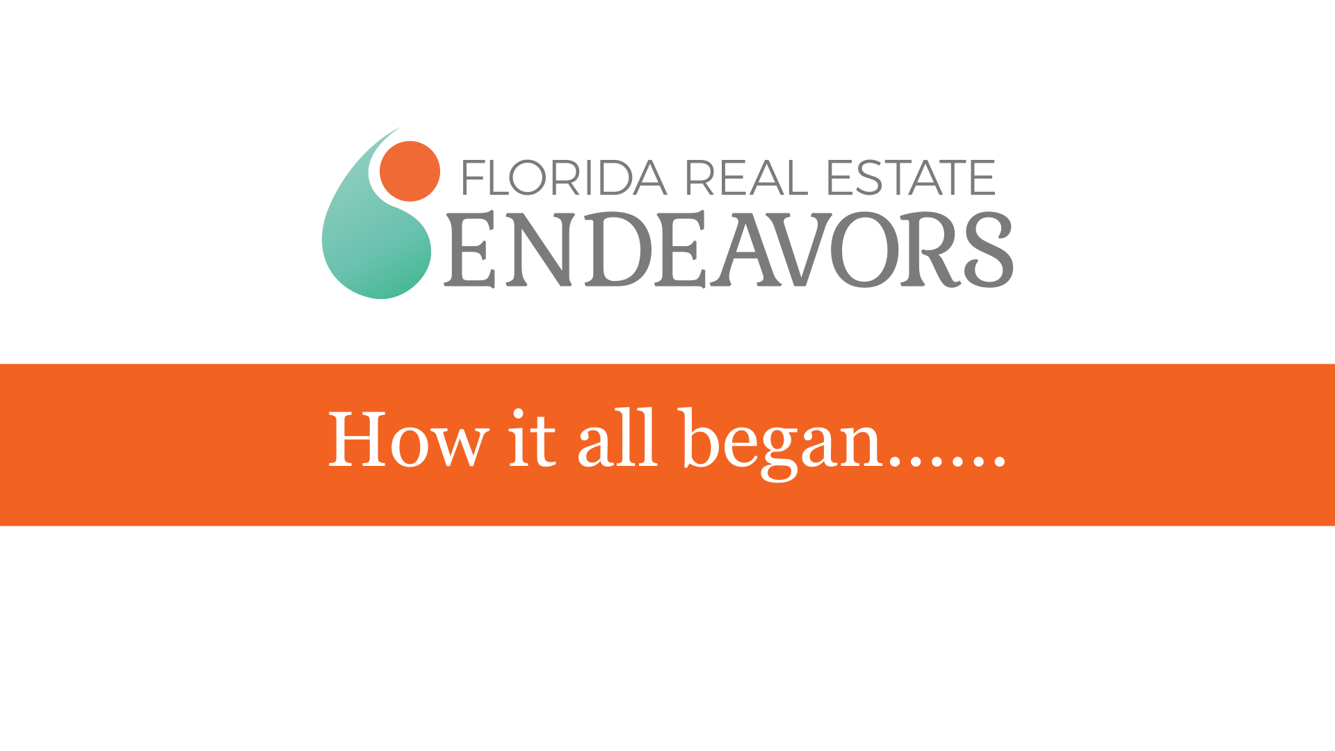 Florida Real Estate Endeavors Custom PowerPoint Template