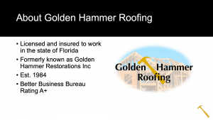 Golden Hammer Custom PowerPoint Template