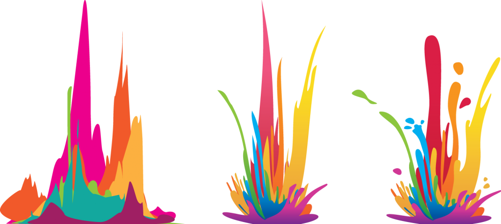 Illustration of how I transformed spiky sound waves into a sloppy paint splash