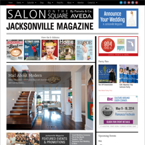 Jacksonville Magazine - homepage screenshot