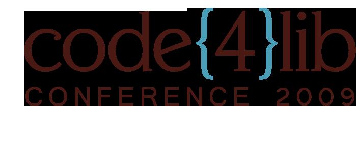 code{4}lib conference 2009 logo