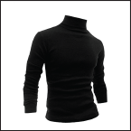 Black turtle neck shirt