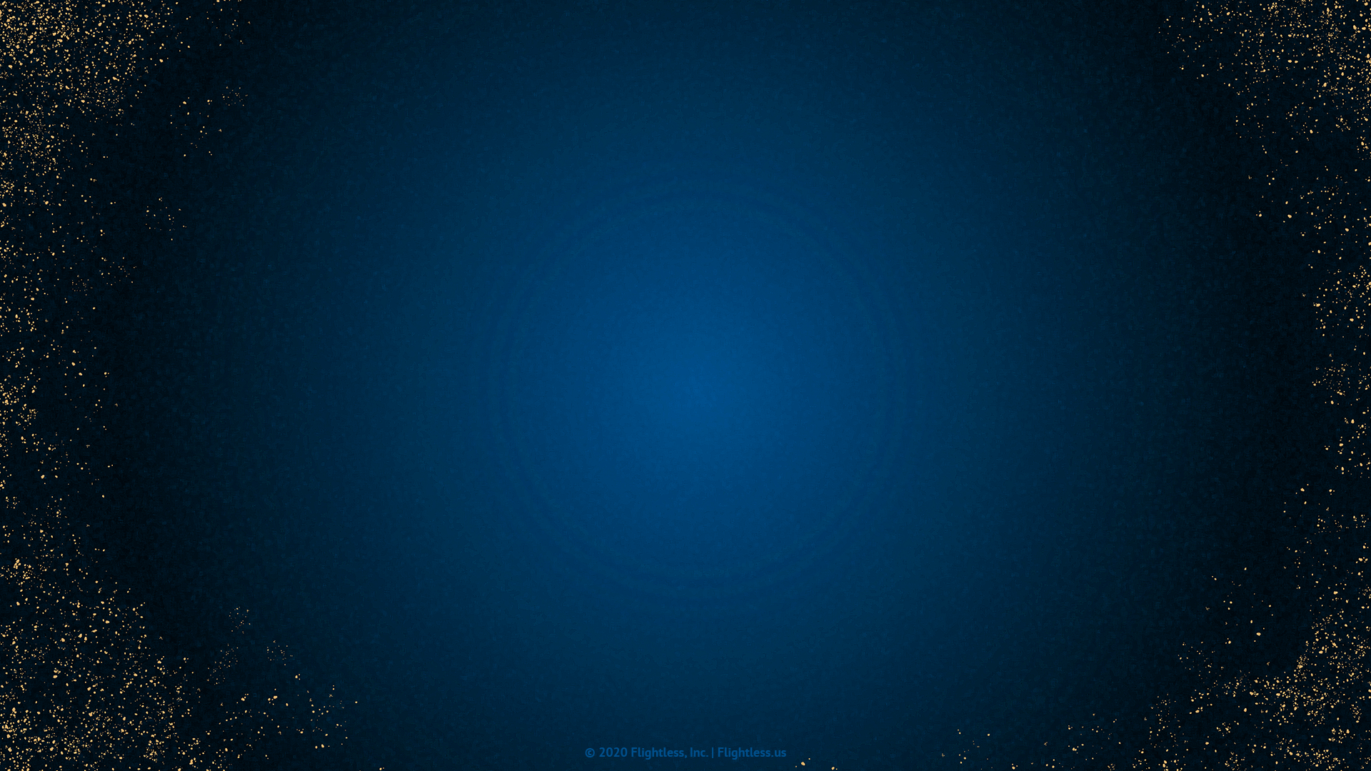 Blue Zoom Background with Gold Flecks
