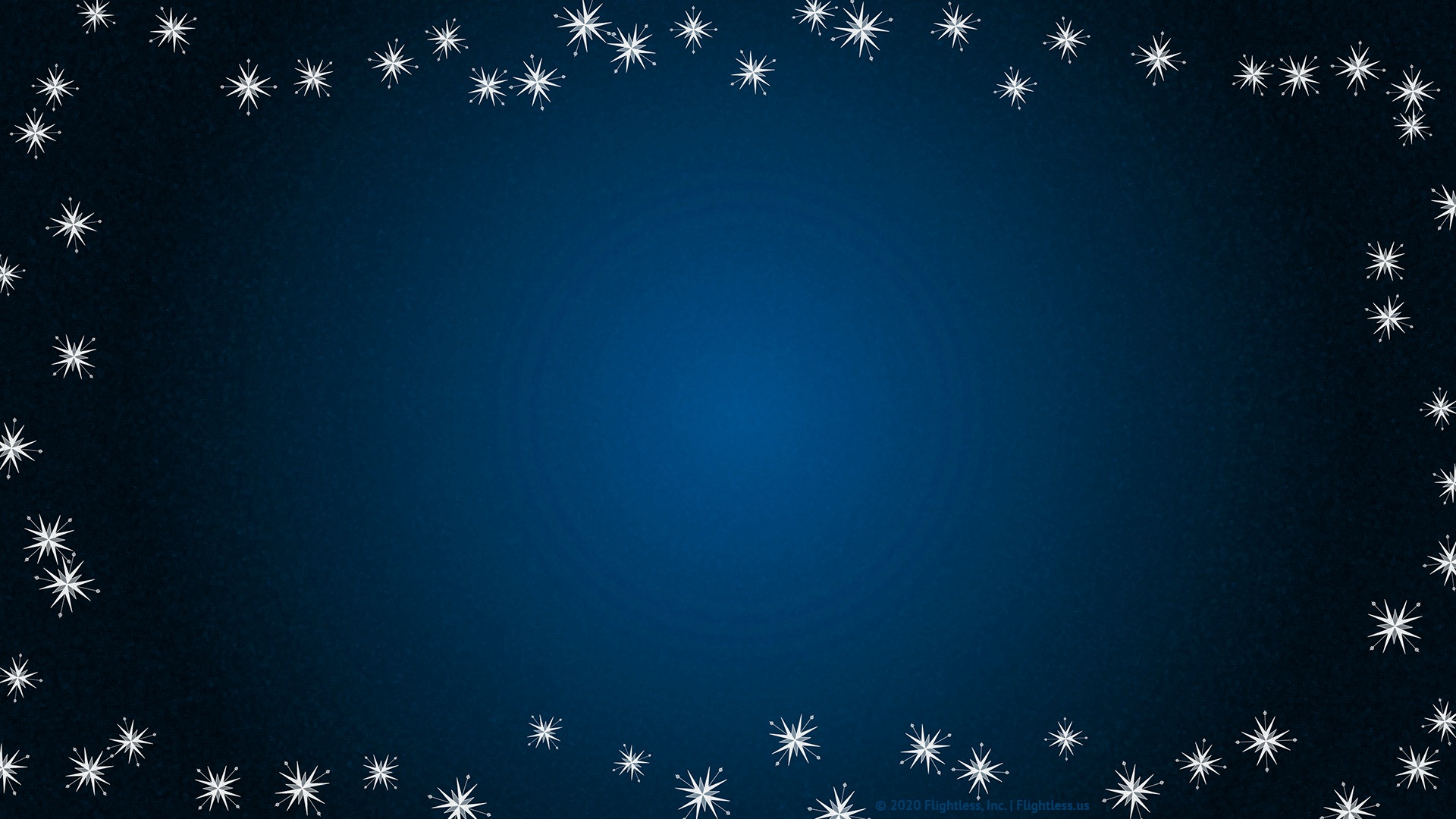 Blue Zoom Background with Snowflakes