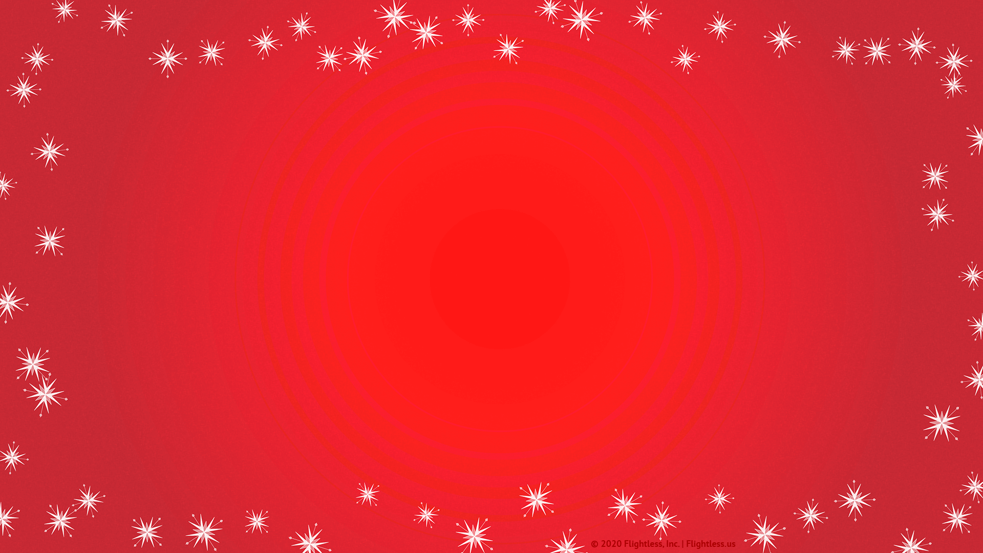Red Zoom Background with Snowflakes